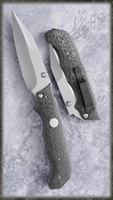 Brandon Vallotton Custom Elite Few D/A Automatic Knife Carbon Fiber