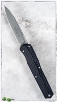 Microtech Cypher D/A OTF 241-10 S/E Stonewash Blade Black Handle