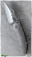 Borka Blades Custom Stitch Folder Rock Grind Blade Bark Handle
