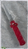 Frank B Tactical Coil Fired Auto Red Handle Silver Blade