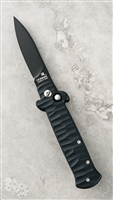 Frank B Tactical Coil Fired Auto Black Handle Black Flat Grind Blade
