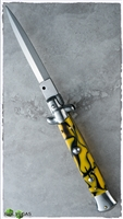 "AB 9"" Italian Stiletto Dagger Yellow Flame"