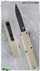H&K Turmoil OTF Automatic Knife 14808BK-1 Tan Handle Black Blade