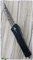 Marfione Custom Combat Hell Hound XHP Damascus Blade w/ Copper Ringed Hardware SN#004