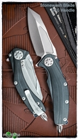 Marfione Custom Matrix Full Size G10 Handle Stonewash Blade