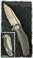 Marfione Custom Matrix Full Size Lightning Strike Carbon Fiber Handle Bronzed Mirror Blade
