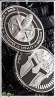 Marfione Dagger & Spartan .925 Sterling Proof Challenge Coin