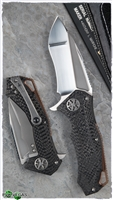 Marfione Custom Star Lord 3D Carbon Fiber Handle Copper Back SF Compound Grind Blade