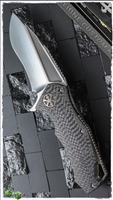 Marfione Custom Star Lord Carbon Fiber Satin Blade Flamed Hardware