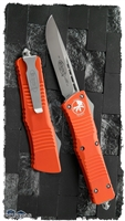 Microtech Combat Troodon D/A OTF S/E 143-7OR Beadblast Blade Orange Handle