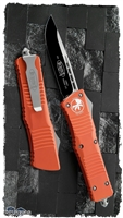 Microtech Combat Troodon D/A OTF S/E 143-1OR Black Blade Orange Handle