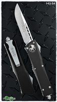 Microtech Combat Troodon D/A OTF LTD 143-S4 Satin Blade Black Handle