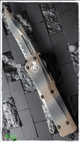 Microtech Combat Troodon D/A OTF Serrated Bowie Blade Tan Camo