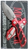 Microtech DOC. M/A Flipper 153-11AP AP Serrated Blade Red Handle