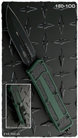 Microtech QD Scarab D/E-S 180-1OD Black Blade OD Green Handle
