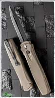Protech Dark Angel OTF Automatic Tan Handle Black Blade