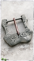 SNMetal Works Timascus Mokume Belt Buckle