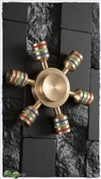 6X Brass Banded Small Wheel Spinner