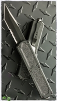 Titan D/A OTF Automatic Knife Tanto Black Blade Serrated