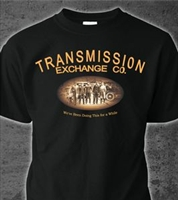Black Transmission Exchange Co T-shirt - X-Large FREE SHIPPING IN USA
