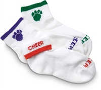 Fold Down Paw/Cheer Socks