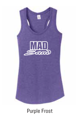 MadSand Ladies Tri Blend PURPLE FROST Tank