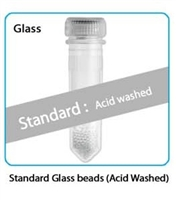 Prefilled  2.0 ml tubes, Silica (Glass) Beads, 0.1mm Acid Washed, 50 pk