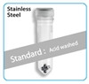 Prefilled 2.0 ml tubes,Stainless Steel, 2.8mm Acid washed, 50 pk