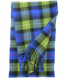 Cashmere Plaid Muffler Blue and Green Tartan