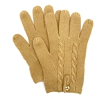 Knit Cashmere Gloves Camel