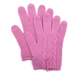 Knit Cashmere Gloves Pink