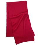 Pure Cashmere Cable Knit Scarf Cranberry
