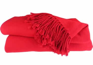 Cashmere Throw Blanket Red