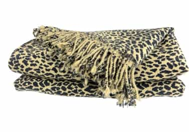 Cashmere Throw Blanket Cheetah Animal Print