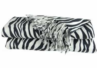 Cashmere Throw Blanket Zebra