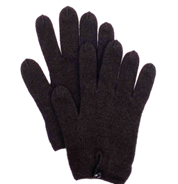 Pure Cashmere Button Gloves Dark Chocolate