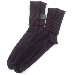 Dark Chocolate Brown Cashmere Socks