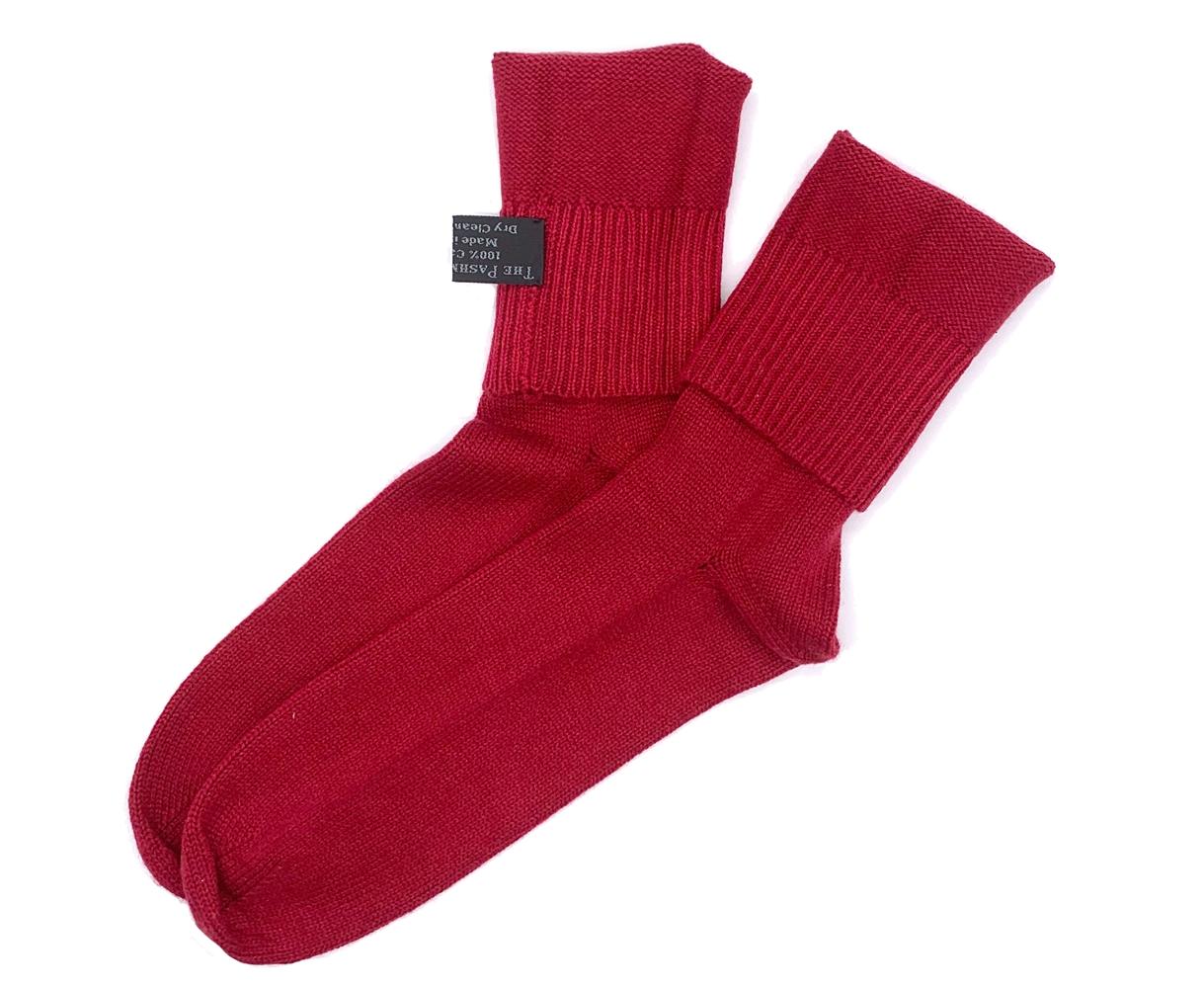 Knit Cashmere Sock Cranberry