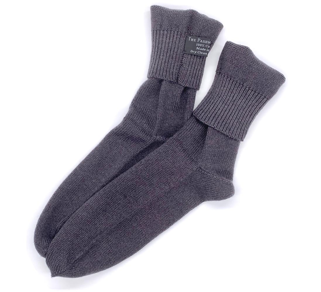 Knitting Pattern For Cashmere Socks : Knit Cashmere Socks Charcoal Gray