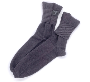 Charcoal Gray Cashmere Socks