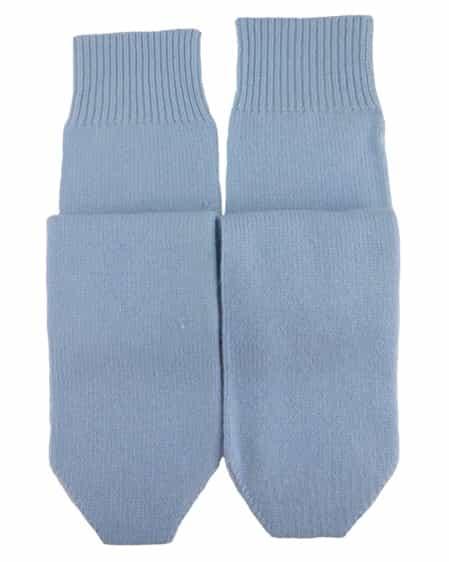 Knit Cashmere Socks Light Blue