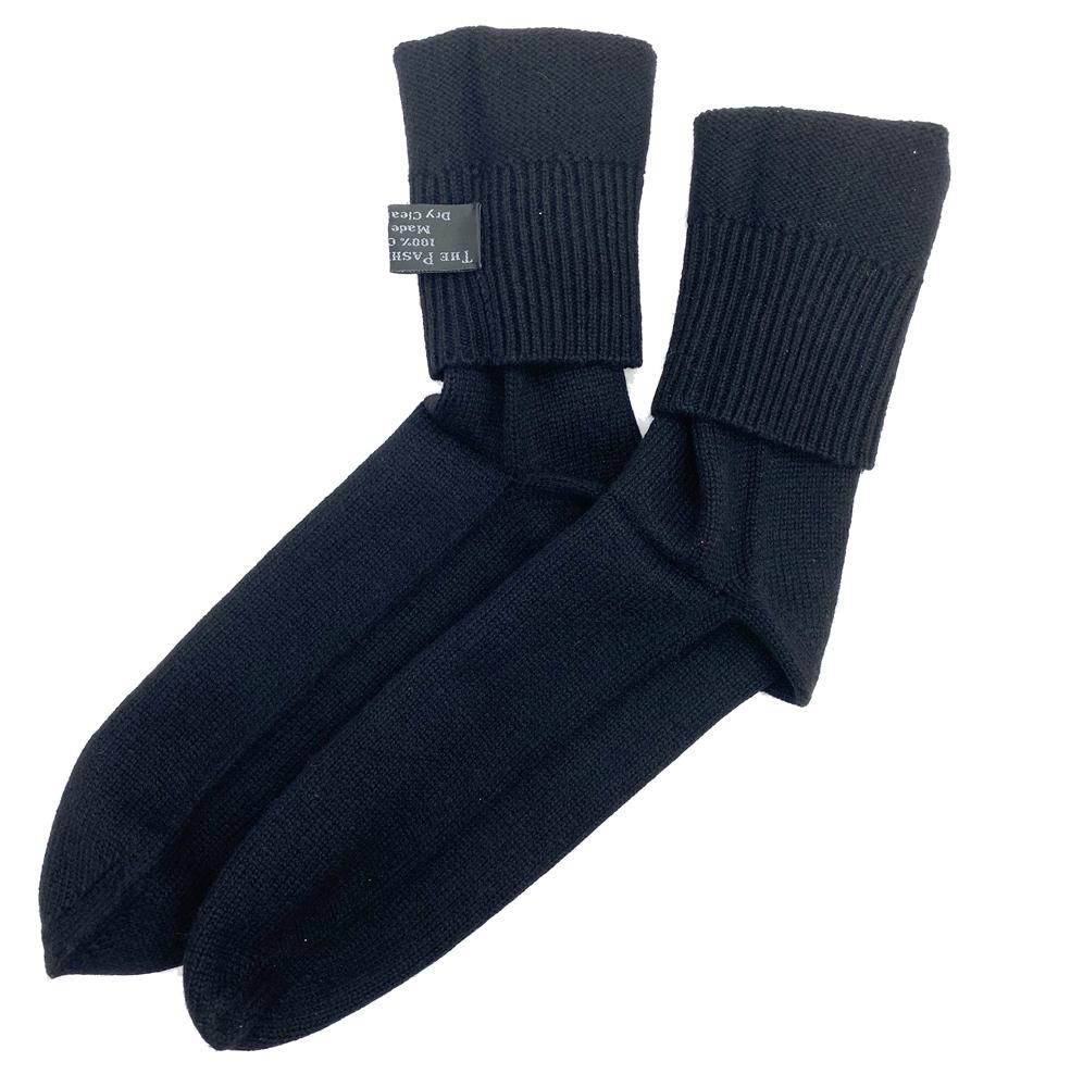 Knitting Pattern For Cashmere Socks : Knit Cashmere Socks Black