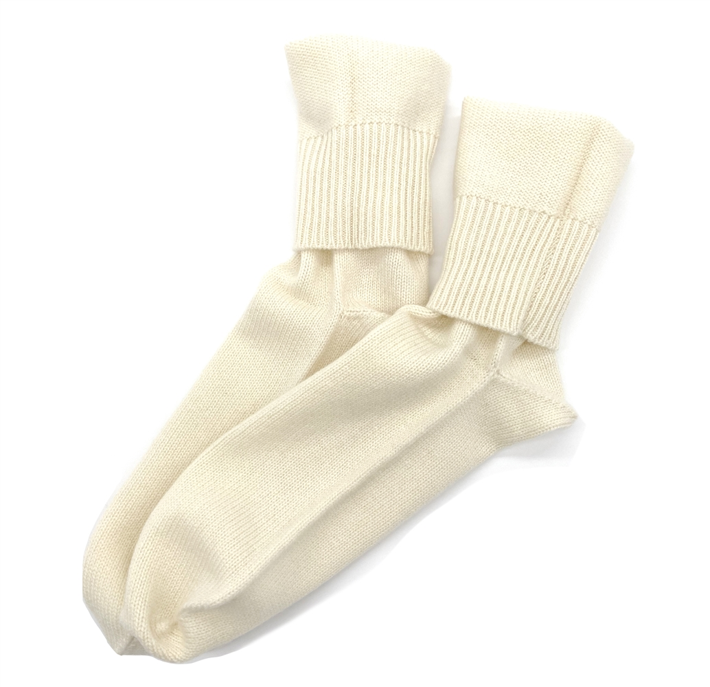 Knit Cashmere Socks Natural