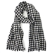 Pure Cashmere Houndstooth Weave Pashmina Scarf