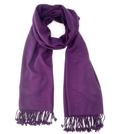 Dark Purple Pashmina Shawl