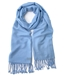 Light Blue Pashmina Shawl 2 Ply