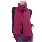 Burgundy Ring Pashmina