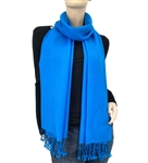 Peacock Blue Ring Pashmina