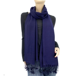Midnight Blue Ring Pashmina