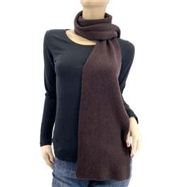 Dark Chocolate Cashmere Scarf